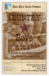 BMC Country Boys Concert Poster